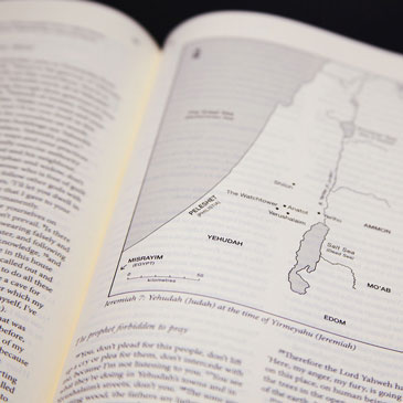 Geographic maps of biblical locations