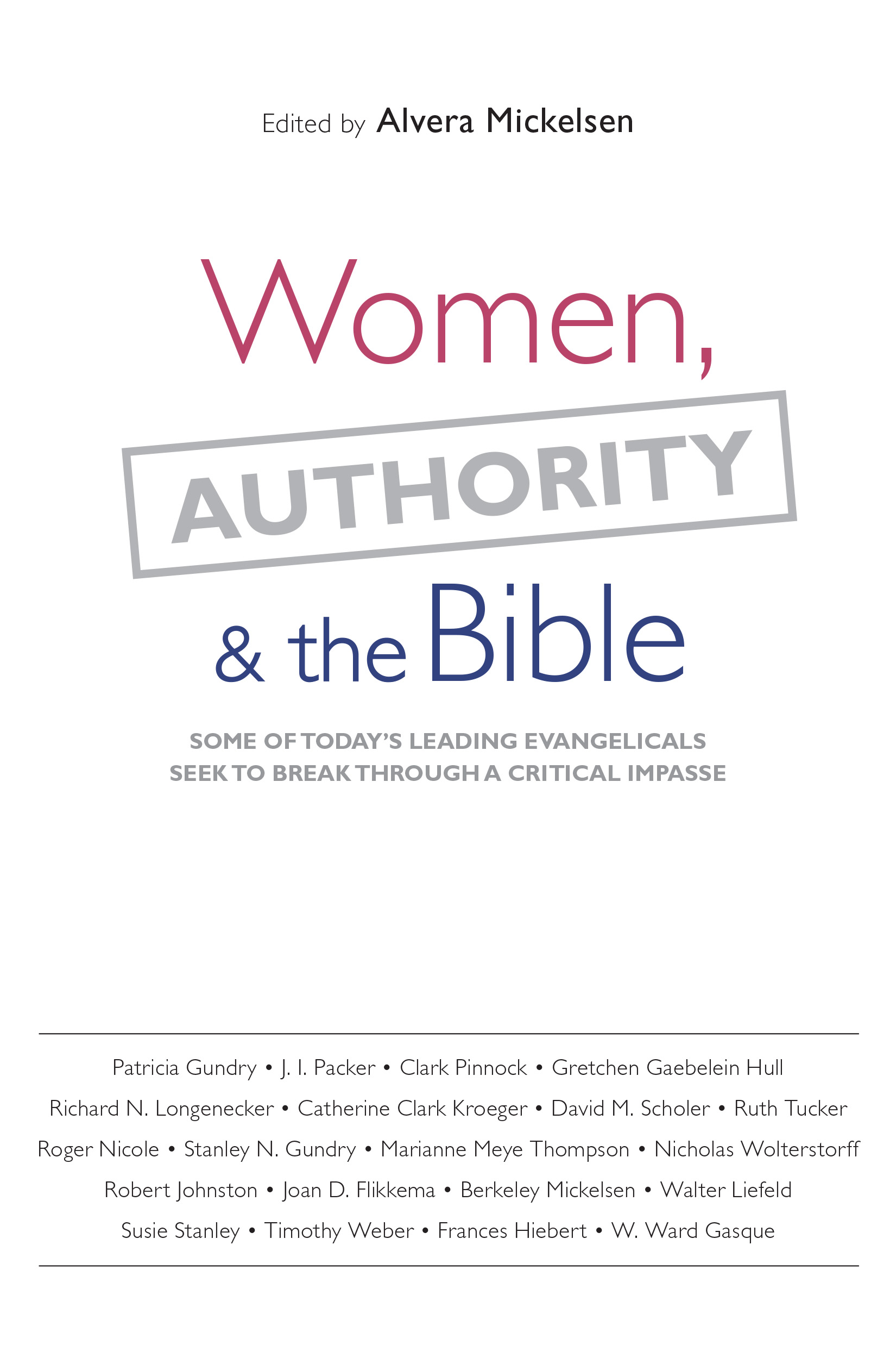 Women, Authority  the Bible
