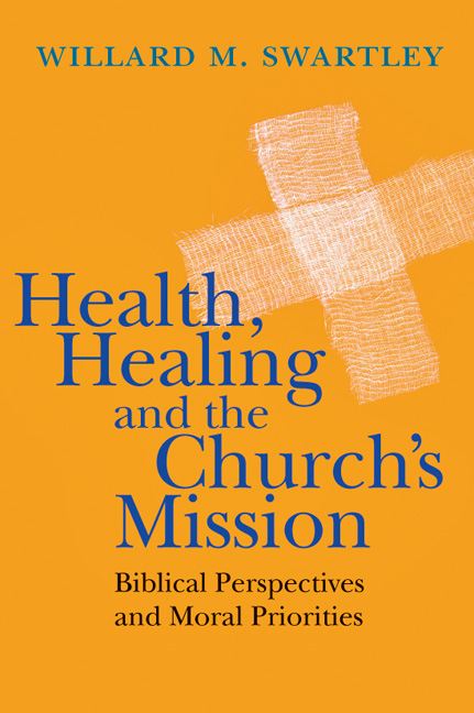 Health, Healing and the Church's Mission