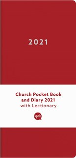 Church Pocket Book and Diary 2021 Red